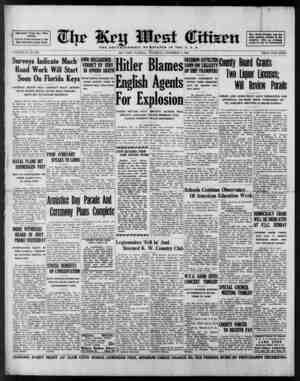 Associated Press Day Wire Service For 69 Years Devoted to the Best Intel ests of Key West VOLUME LX. No. 266. Surveys...