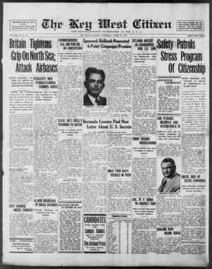 Associated Press Day Wire Service For 60 Years Devoted to the Best Interests of Key West VOLUME LXI. No. 94 Britain Tightens