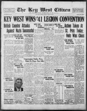 Associated Press Day Wire Service For 60 Years Devoted to the Best Interests of Key West VOLUME LXI. No. 101. KEY WEST WINS