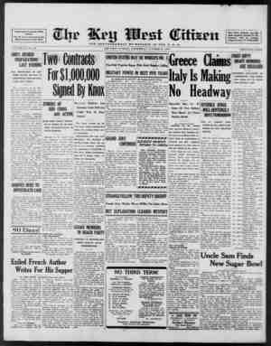 Associated Press Day Wire Service For 60 Years Devoted to the Best Interests of Key West VOLUME LXI. No. 259. SHIPS RUSHED