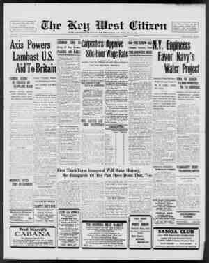 Associated Press Day Wire Service For 60 Years Devoted to the Best Interests of Key West VOLUME LX I. Xo. Mil. Axis Powers