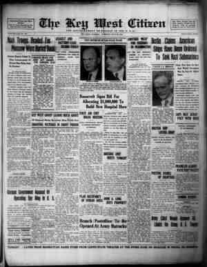 Associated Press Day Wire Service For 61 Years Devoted to the Best Interests of Key West VOLUME LXII. No. 167. Nazi Troops
