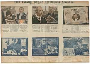 , 1935 Takvimi KURUN Gazetesinin Armağanı — 1 ikinci Kânun Sayısına Katgıdır ME | Bi VAKIT MATBAASI VAKIT MATBAASI Yalnız...