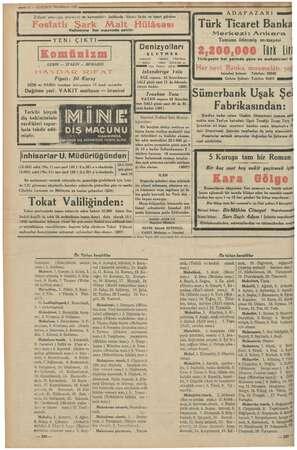 """TEE g- 12 — KURUN! İkincikânun 1935 ADAPAZARI Kullanınız her eczanede satılır. YENi ÇIKTI Komün l LENİN — STALİN — """"BUHARIN"""