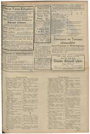 """Mez i """" v 11 — KURUN — © ŞUBAT 1935 semp l Devlet Demir yolları ilânlari Vapurculuk Türk Anonim Şirket: Istanbul Acentalığı"""
