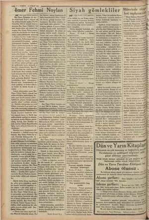 """—— 2 — KURUN Is3ŞUBAT 1935 ömer Fehmi Noylan Mep"""" Baş tarafı birinci Bay Ömer Fehminin ilk dev - let memuriyeti Kosva..."""