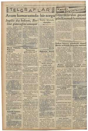 dunda gümrük geçitleri başlamıştır. , bir program a Ş eek nkendnei 26 ŞUBAT 1935 —— 2 — KURUN İvi Ürebinsiiln bii sorgu...