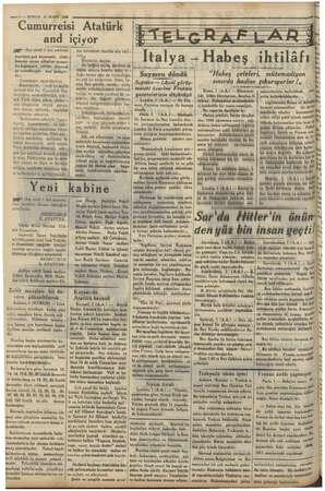 y 4 —2 — KURUN 2 senii 1936 Cumurreisi Atatürk and m (Baş tarafı 1 inci sahifede) #anlârin çok heyecanlı, daki- kalaröa süren