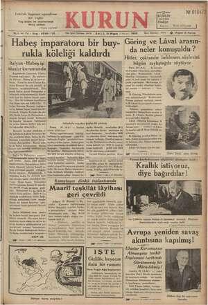 İzmirde heyecan uyandıran ir rapor Yaş üzüm ve incirlerimizi ihraç y olları .(9 uncu sayıfada) klan 18-1 inc Yıl « Sayı: