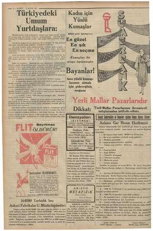 : : a — Ke e r—— 12 — KURUN 26 MAYIS 1935 Türkiyedeki Umum Yurtdaşlara: a iyilik müesseseleri altında başlı başıma soysal