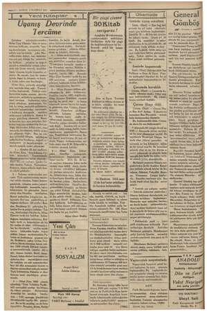 —!0 — KURUN 4 HAZİRAN 1935 Jj e Yeni Kitaplar *   Uyanış Devrinde Tercüme alışkan yi sençlere mesailerini ortaya çıkar. mak