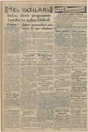 we 2 — KURUN 18 HAZİRAN 1935 | İtalya, sil programını Londra'ya açıkça bildirdi Fransa! İngilterenin sorusu- na karşılık