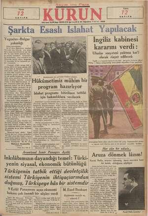 Yarın SAYIFA Yugoslav -Bulgar yakınlığı e ya aytarımı. ki yıl öne in faaliyette Yen Sofyada v ya komitesi Sırp lâfını Sofyaya