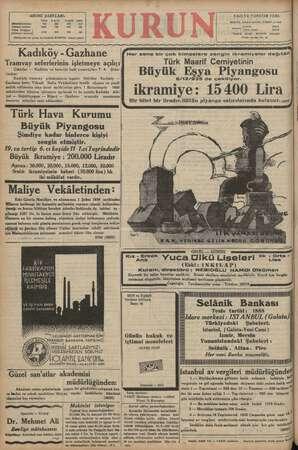 """ABONE ŞARTLARI: YAZI VE YÖNETİM YERİ: ve ie 6 """"e va a Istanbul, Ankara caddesi, (VAKİT yurdu) Yabancı yerlere 1350 725 «00"""