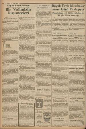 """a 4 — KURUN 11 MART 1936 Köy ve köylü önünde KöY ı Kırşehir valisi B. Mithat Say- lam'ı > """"düşünce, lerinin ilk kıs- e"""
