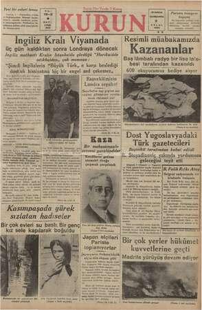 Yeni bir askeri temas | YıL: 19.2 Londra, 8 — Finlandiya ordula- rı başkumandanı Mareşal Banbr- heim'in yakmda Londraya iz si