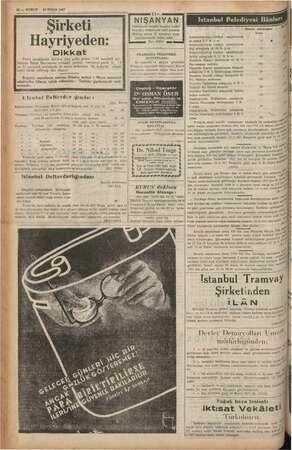 12 — KURUN 30 NİSAN 1937 - Dik Pazar sabahlarına mahsus olan femizin Bahar Bayramına müsadif y ve 32 numaralı posti üzere...