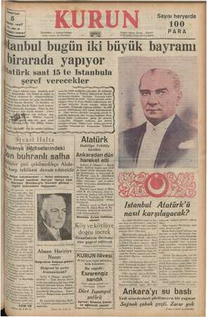"""mariazi i """"ran 1937 Yıl, 20-3 1710037 İSTANBUL - a Cadde Posta kutusu: 46 eli """"m Nez me URUN Telgraf adresi: Kurun ...."""