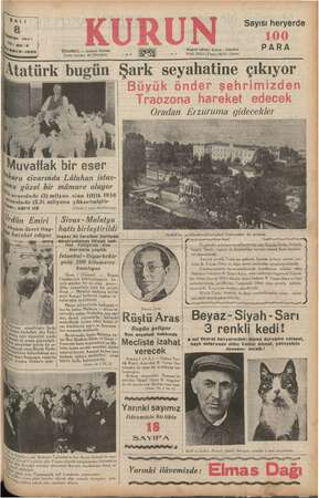 e ge LI alman, 1957 Yi: 20.3 V!8970.1090 SA İSTANBUL — Ankara Caddesi Posta kutusu: 46 (İstanbul) Atatürk bugün i Muvaffak