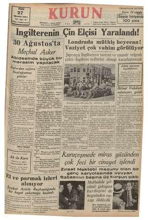 "i bu İSTANBUL «- Ankara Caddesi "" Pösta kutusu; Mdf e iavamnzia DIFİRE Yarın 24 sagıfa Sayısı heryerde 100 para ( Telgraf..."