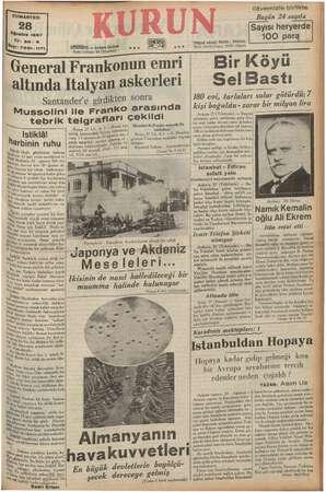 """CUMARTESİ Ağustos 1937 h istiklâl arbinin ruhu ale üyük ideal, günlerinin pen ti 15 inci in pm saydığımız is"""" bal, Har arbini"""