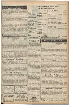 """""""11 — KURUN 23 EYLÜL 1937 . Türkiye Cumhuriyet Merkez Bankası 18/9/1937 vaziyeti 3 bağ POP TEMİM MİLİ EKİ La Eşi Eİ ——— mmm"""