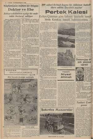 aa VEE af DERE AN A Dd 6 —KURUN 74 BİRINCİTESRİN 1937 —— — — b Mel TA 9 öl . .. a . , Köylümüzü ühim-bir ihti 800 askeri