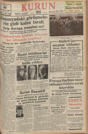 ilâvemizle beraber Yarın 24 sayfa Sayısı heryerde . be Telgraf adresi: Küfün . İstanbul .. Ağ) 00.8. Tele, 21413 (Yam),...