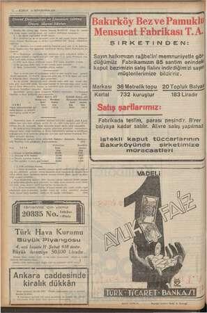 12 — KURUN 19 İKİNCİKANUN 1938 AYM LÜLE YL İĞE isletme; mum idaresi ilânları vveke ilân ia olan Ankara Garında...