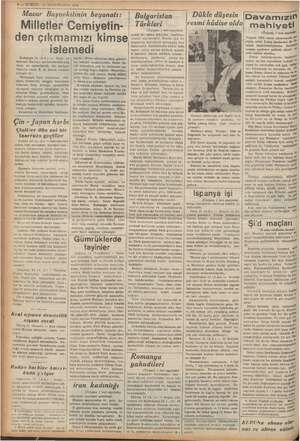 """Macar Başvekilinin beyanatı: Milletler Cemiyetin- """"den çıkmamızı kimse istemedi Budapeşte 2 yan ayi Girik gecümenlrnerm bir"""