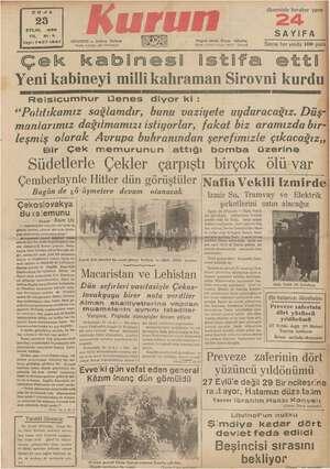 Sayı:7437-1537 ISTANBUL — Ankara Caddesi Posta kutusu: 46 (İstanbul) Telgraf söresi: Kı stanbuz Telef 21413 e 245 Y «...