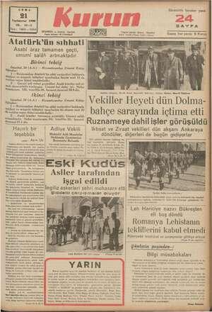   CUMA 1998 YİL: 22-3 Sayı : za 1565 em İSTANBUL — Ankara Uaddesi Posta kutusu: 46 (İstanbul) İlâvemizle beraber yarın...