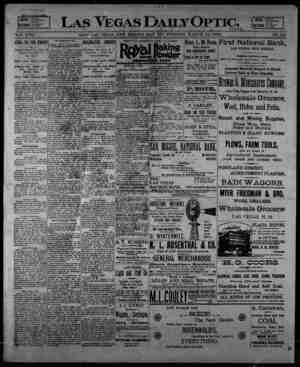 Las Vegas Daily Optic Gazetesi 23 Mart 1896 kapağı