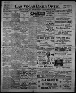 Las Vegas Daily Optic Gazetesi 30 Mart 1896 kapağı