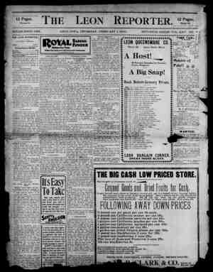 The Leon Reporter Gazetesi 1 Şubat 1900 kapağı