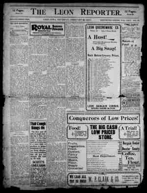 The Leon Reporter Gazetesi 22 Şubat 1900 kapağı