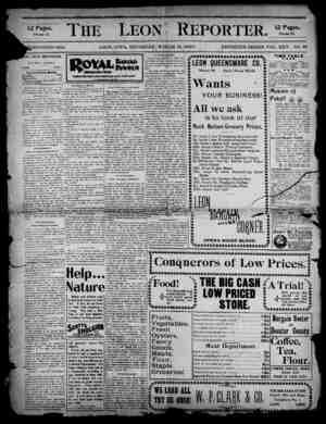 The Leon Reporter Gazetesi 15 Mart 1900 kapağı