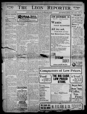 The Leon Reporter Gazetesi 22 Mart 1900 kapağı