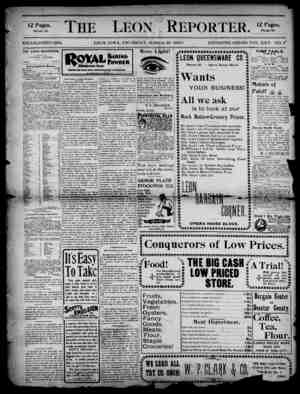 The Leon Reporter Gazetesi 29 Mart 1900 kapağı
