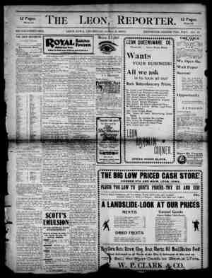 The Leon Reporter Gazetesi 5 Nisan 1900 kapağı