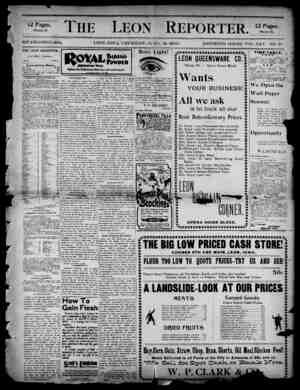 The Leon Reporter Gazetesi 12 Nisan 1900 kapağı