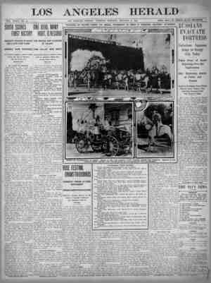 The Los Angeles Herald Gazetesi 3 Ocak 1905 kapağı