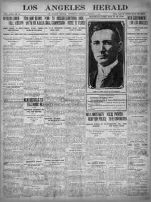 The Los Angeles Herald Gazetesi 4 Ocak 1905 kapağı