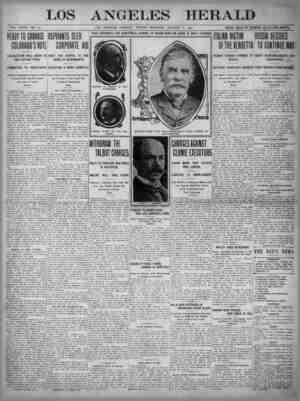 The Los Angeles Herald Gazetesi 6 Ocak 1905 kapağı