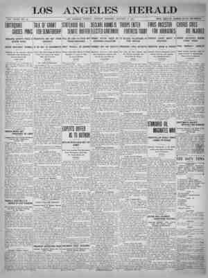 The Los Angeles Herald Gazetesi 8 Ocak 1905 kapağı