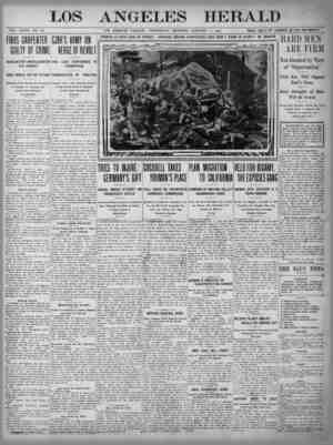 The Los Angeles Herald Gazetesi 11 Ocak 1905 kapağı