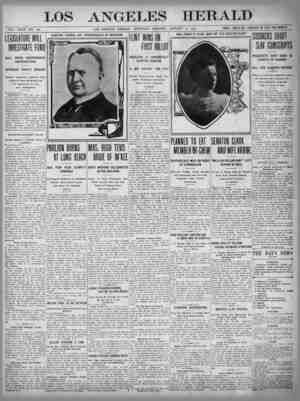 The Los Angeles Herald Gazetesi 12 Ocak 1905 kapağı