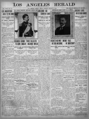 The Los Angeles Herald Gazetesi 13 Ocak 1905 kapağı