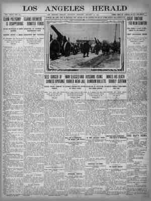 The Los Angeles Herald Gazetesi 14 Ocak 1905 kapağı