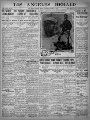 The Los Angeles Herald Gazetesi 15 Ocak 1905 kapağı